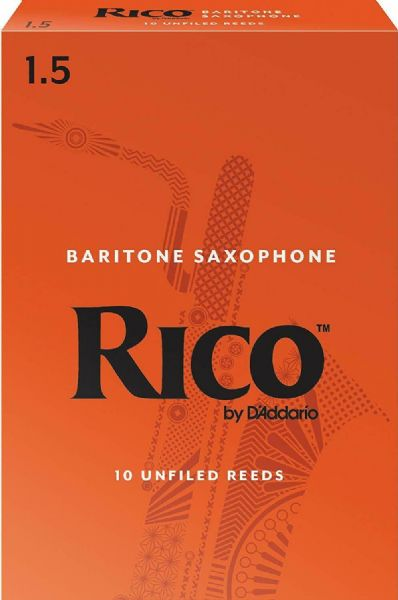 Rico 1.5 Strength Reeds for Baritone Sax (Pack of 10) - RLA1015